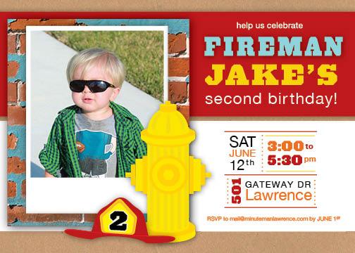 Birthday Boy- Fireman