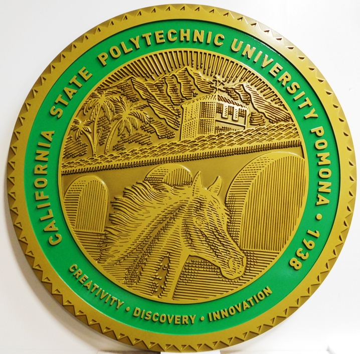MB2322- Seal of the california State Polytechnic University,2.5-D Engraved Relief