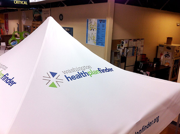 Washington Health Plan Finder Tent