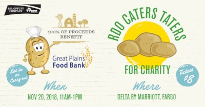 Great Plains Food Bank Named Benefiting Charity of RDO Caters Taters 2018