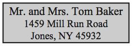 Standard Return Address Stamp