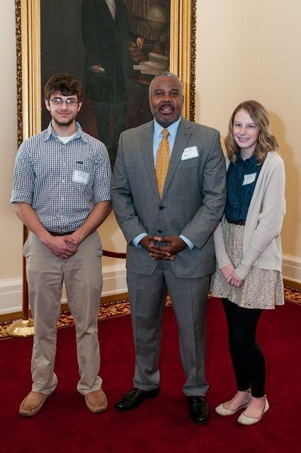 Sen. Quinton Ross with Booker T. Washington Magnet School students