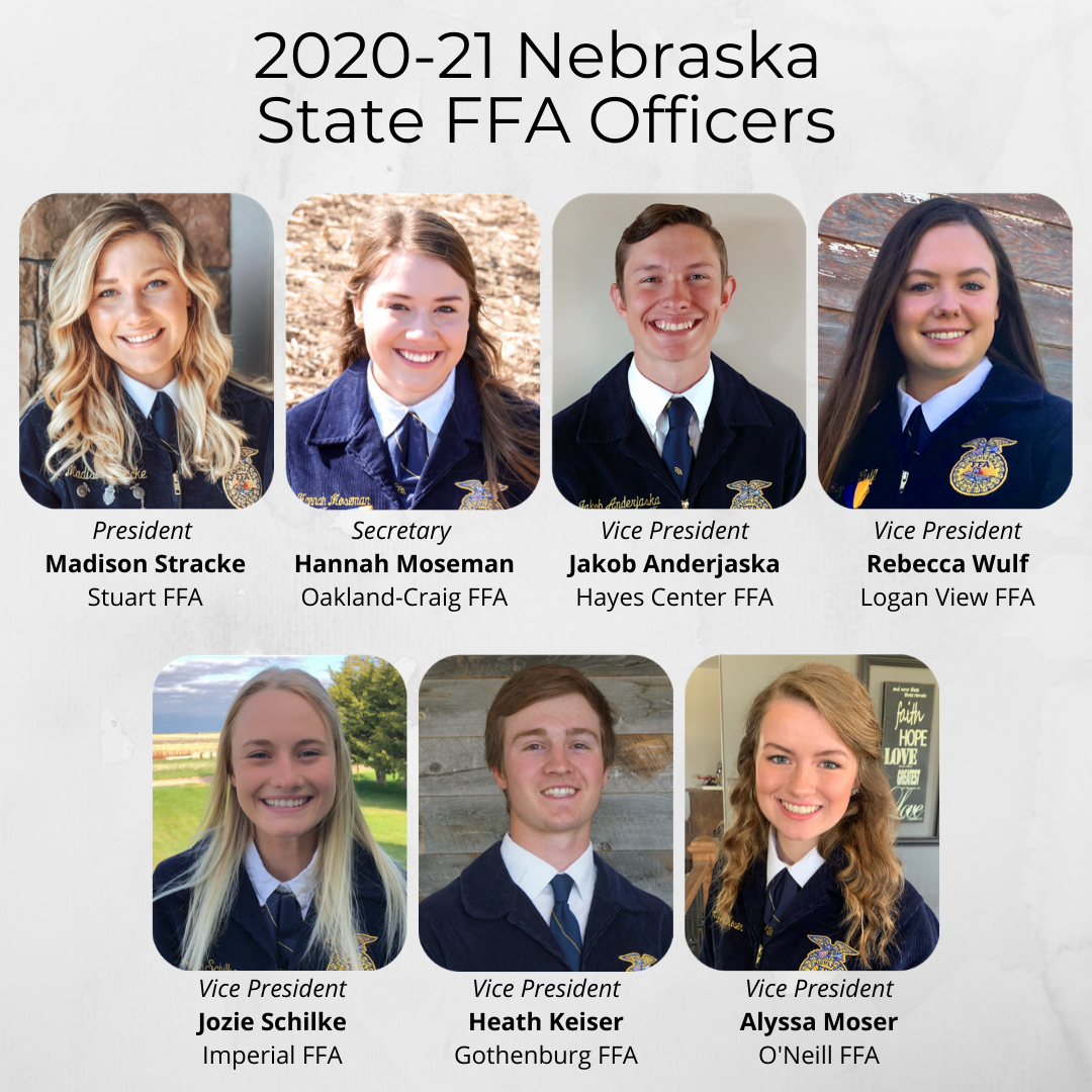 2020-21 Nebraska FFA State Officers Announced