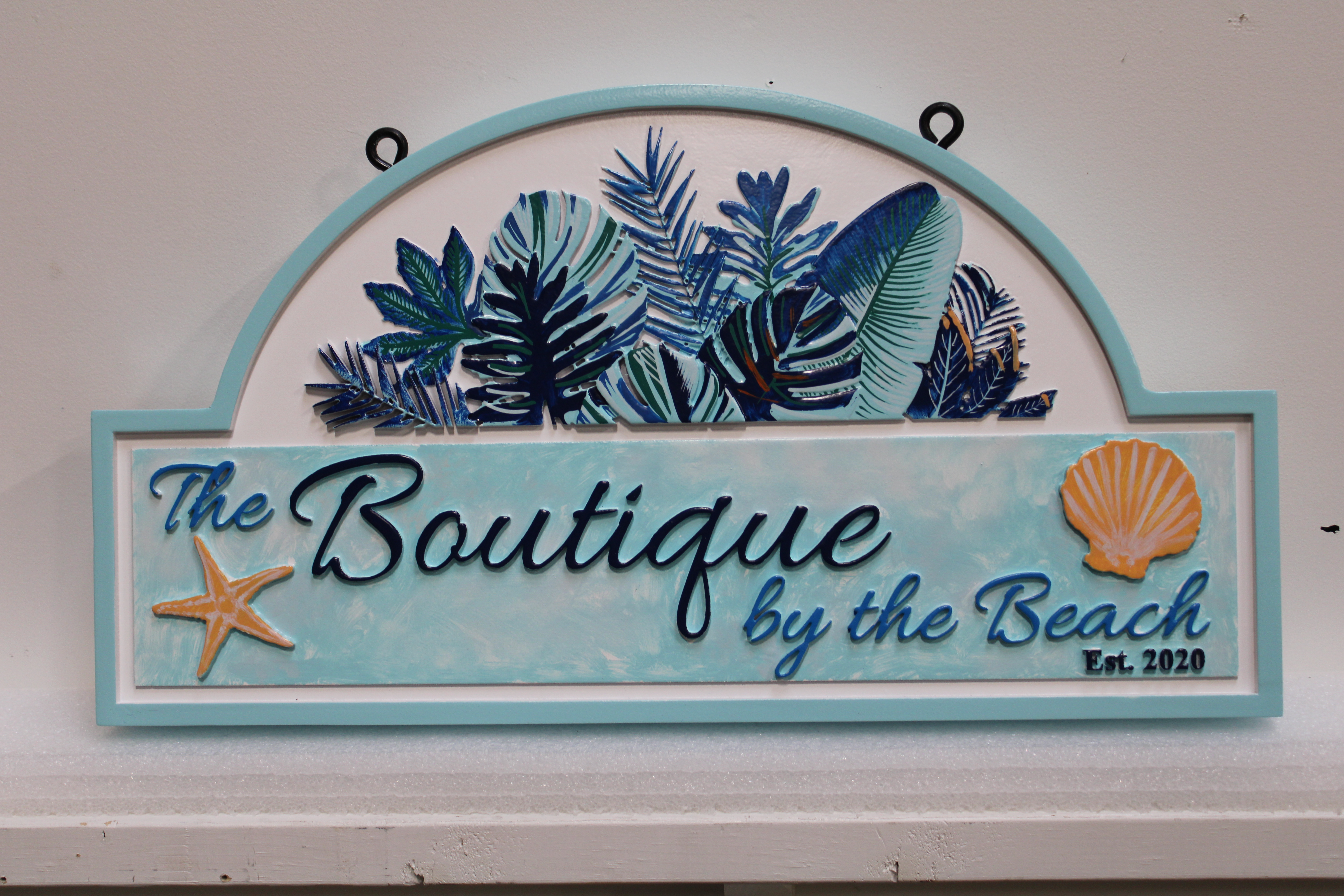 "M1830 -  Elegant Entrance Hanging sign for ""Boutique by the Beach"" (Gallery 20)"