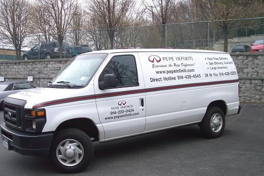 Van Lettering with Logo & Stripe