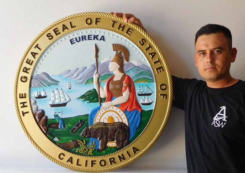 M2112 - Wall Plaque of the Great Seal of the State of California (Gallery 32)