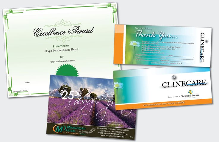 Coupons & Certificates