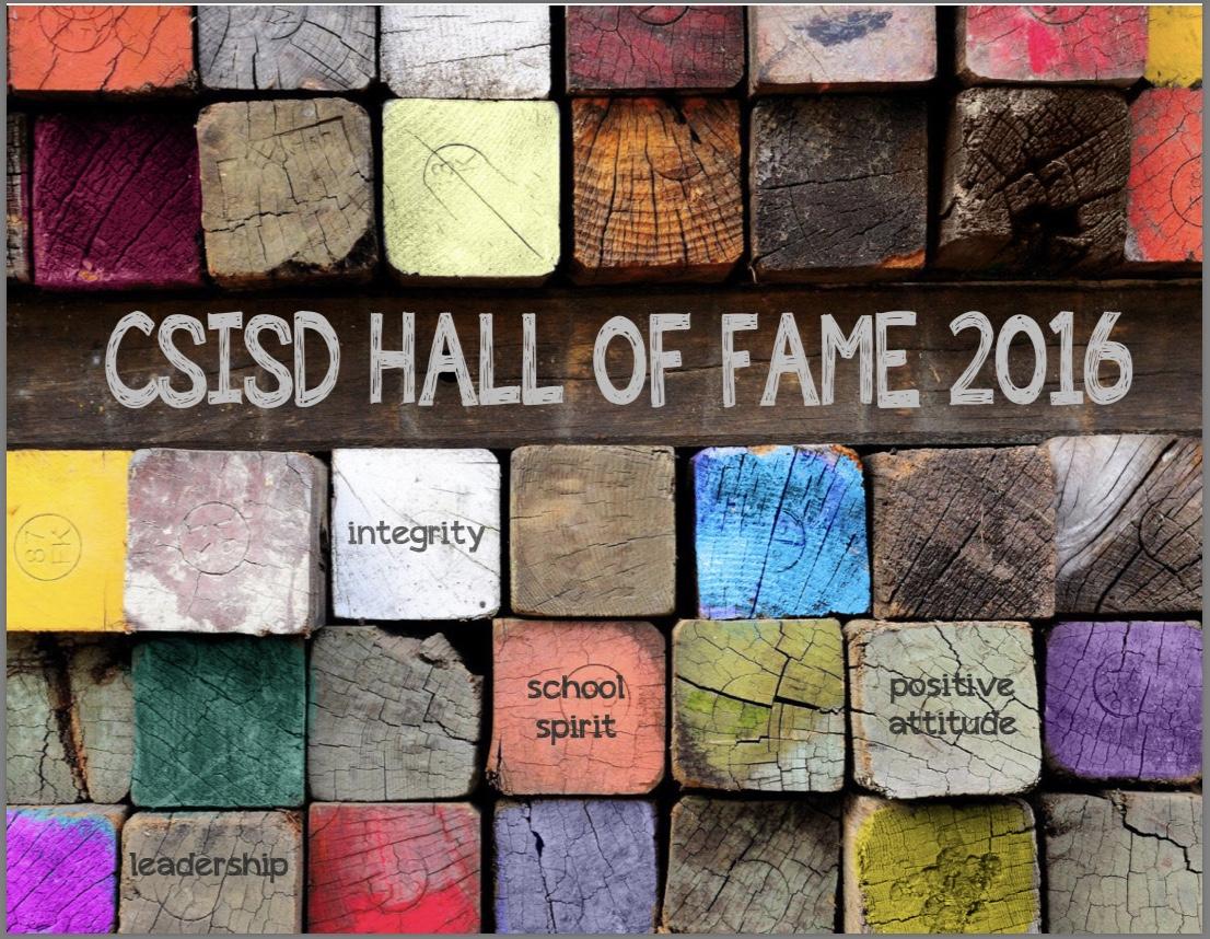 2016 Hall of Fame Program
