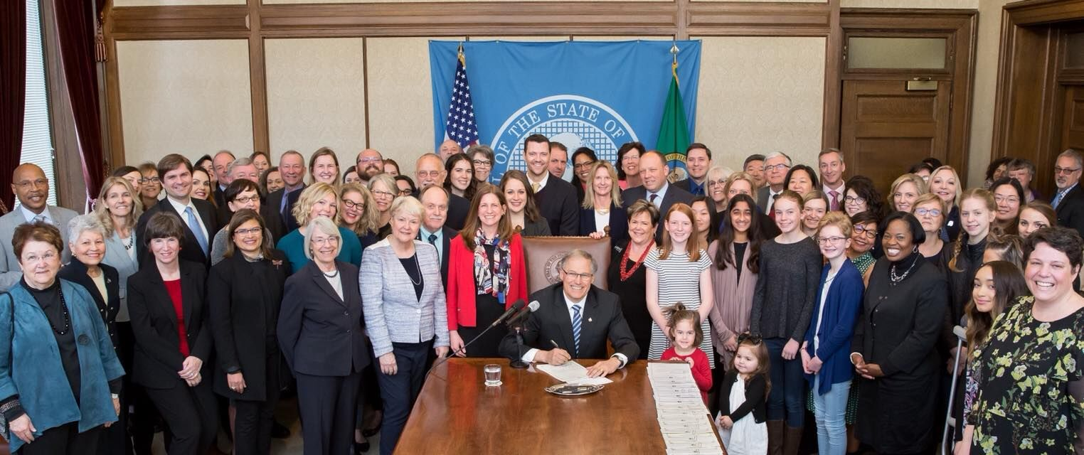 The signing of her bill, March 31st, 2018.