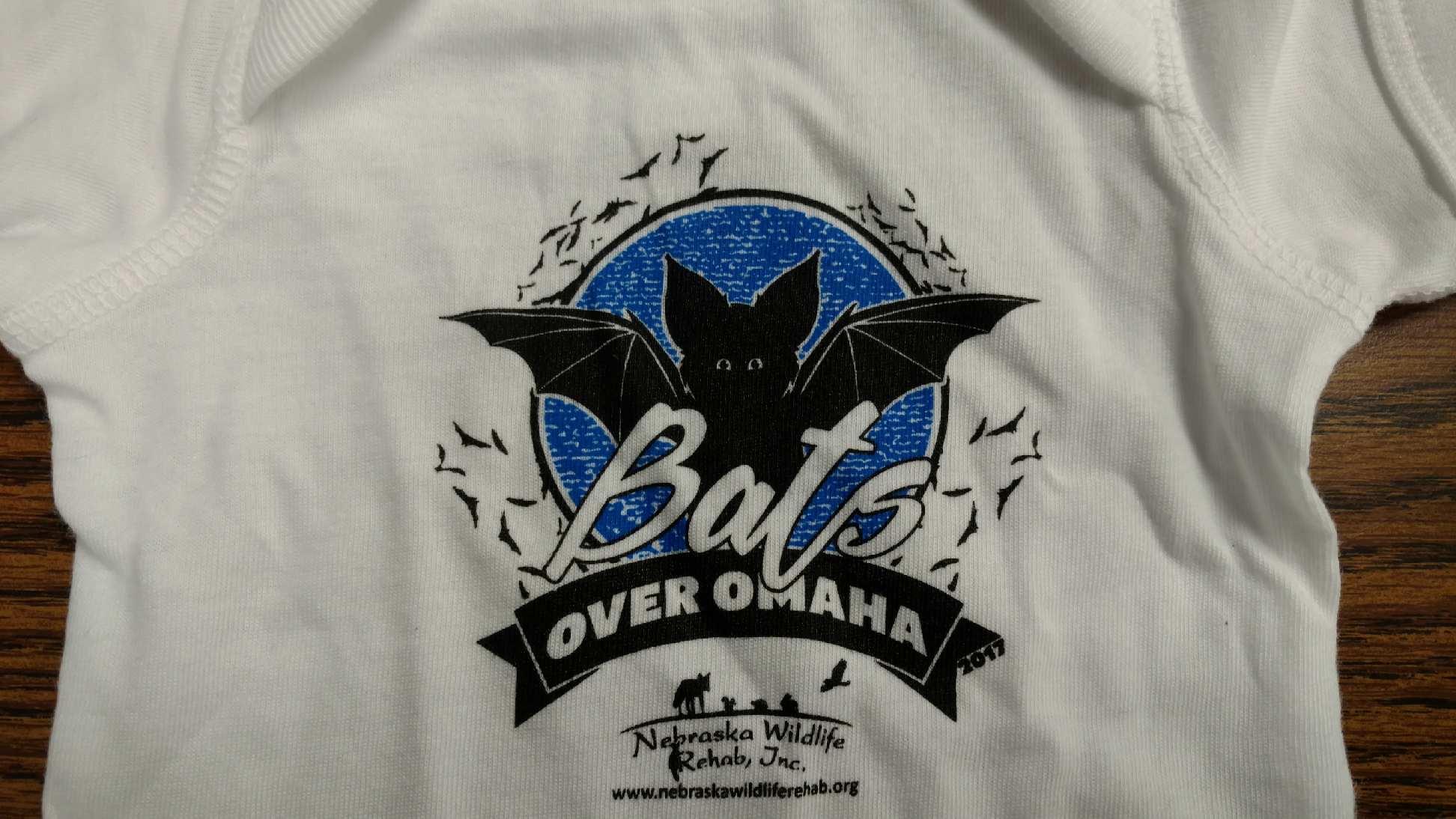 Bats Over Omaha Bat Release Baby Bib - 2017