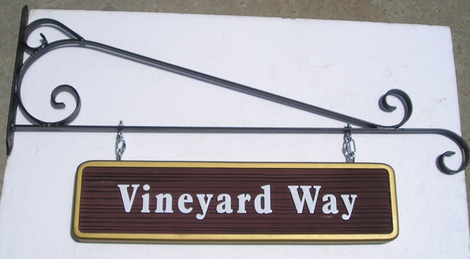 M1600 - Street Name Sign with Wrought Iron Hangar (Gallery 17)