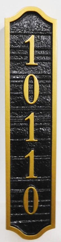I18863 - Vertical Sandblasted Wood Grain Address Number Sign