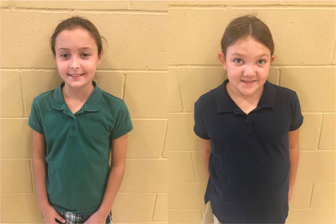September Elementary Knight Code Students of the Month