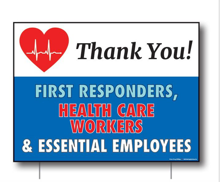 Lawn Sign - Thank you