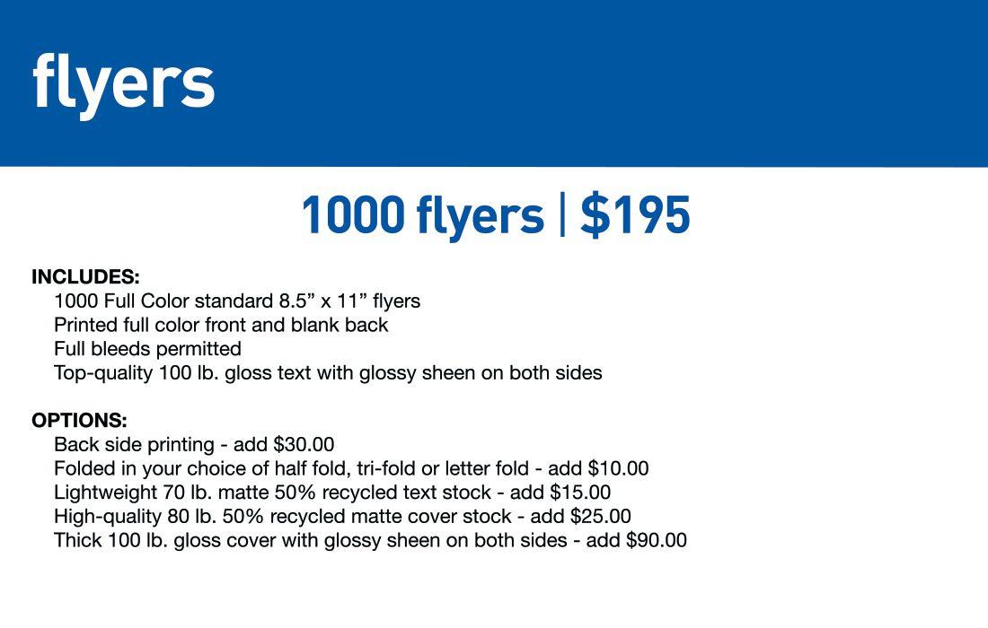 SBB Flyers-Std lead time 5-7 business days