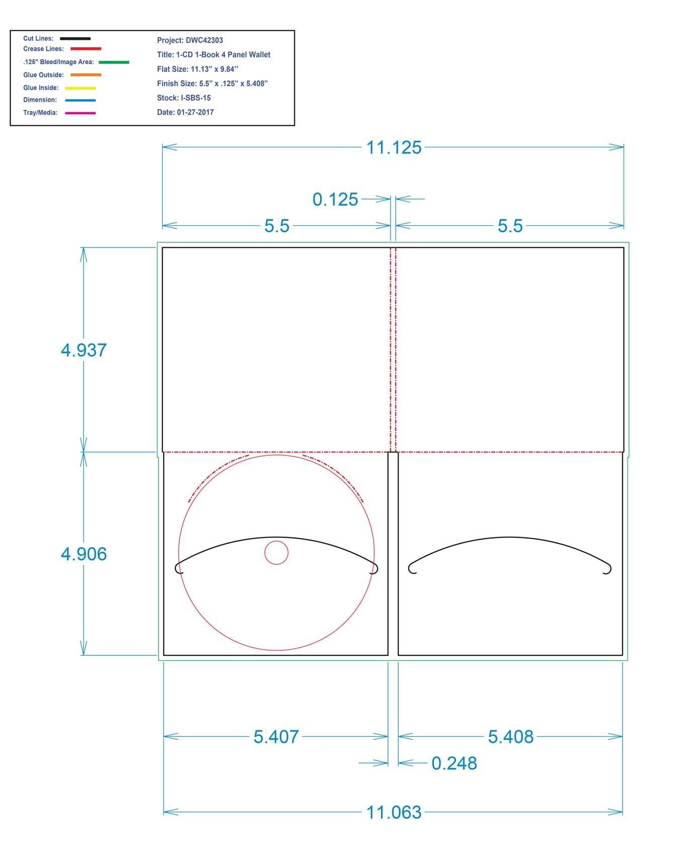 DWC42303-1-CD 1-Book 4 Panel Wallet