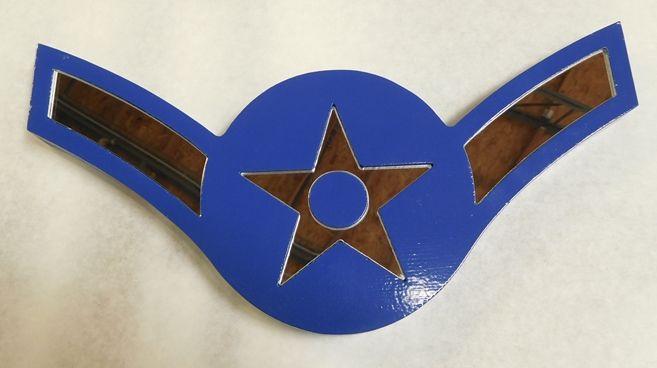 V31694- Carved Insignia Plaque for an USAF Airman