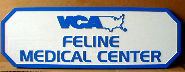 BB11727 - Carved HDU Feline Medical Center Entrance Sign