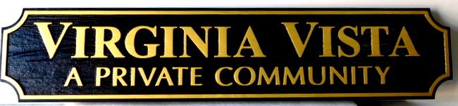 "K20207 - Sandblasted HDU Entrance Sign to ""Virginia Vista"" Residential Community"