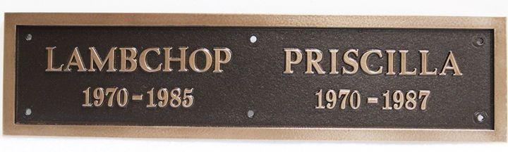 MA1285 - 2.5-D Raised Relief  Memorial Plaques