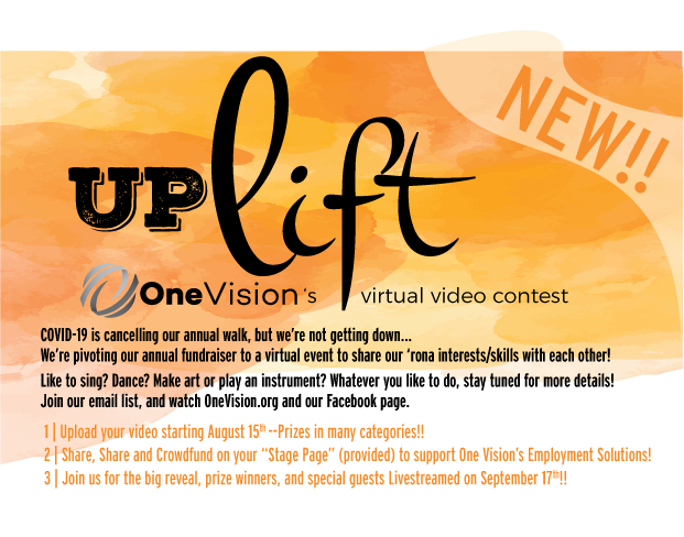 Uplift- One Vision's Virtual Video Contest/Fall Fundraiser