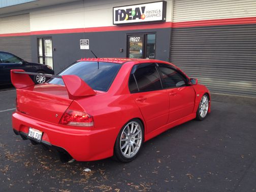 Car Wrap: Mitsubishi Lancer Evolution