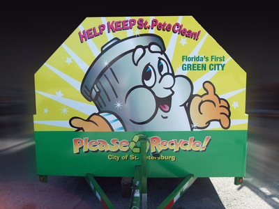 Recycling Trailer Wrap 2