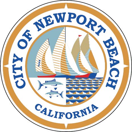 DP-1720 - Carved Plaque of the Seal of the City of Newport Beach, California,  Artist Painted