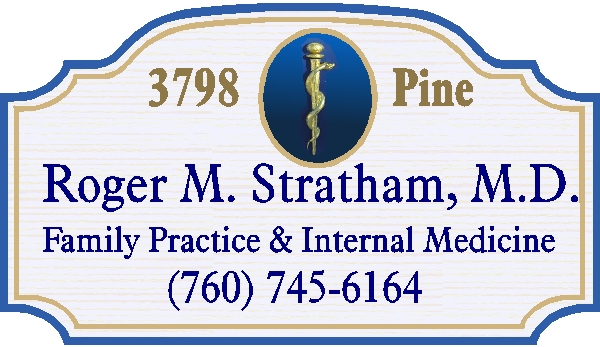 B11013 - Medical Doctor/Physician Carved Wood Address Sign