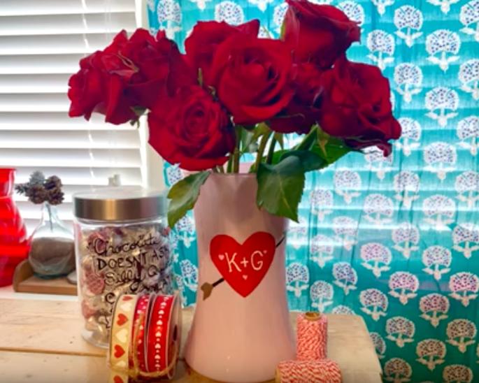 Love Initials Vase