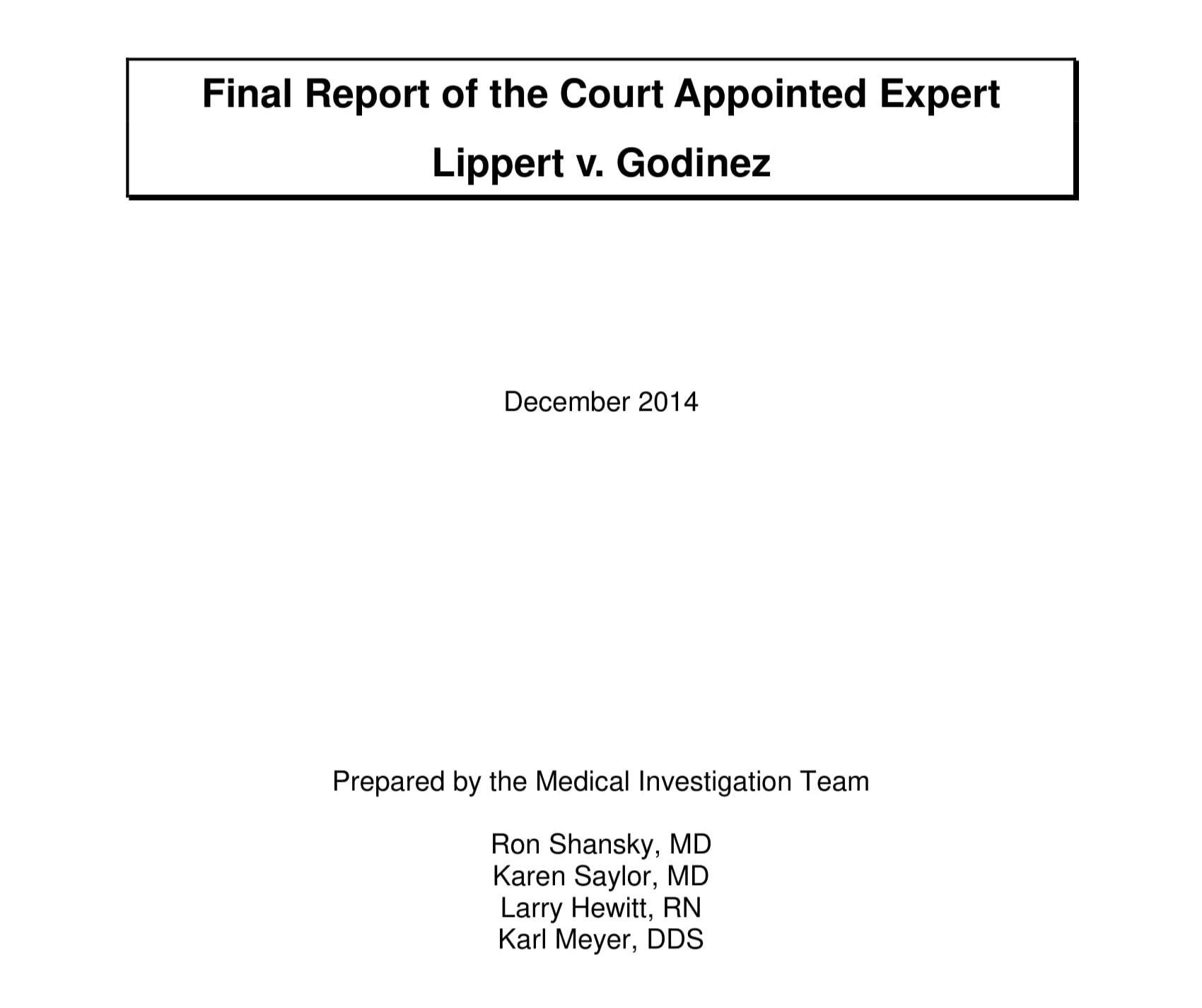 Lippert v. Baldwin: Expert Report (2014)