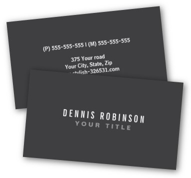 16PT Suede Business Cards with Raised Spot UV