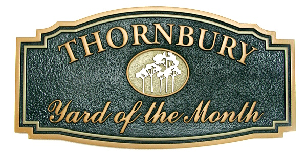 "KA20935 - Carved and Sandblasted Yard-of-the-Month Sign for the ""Thornbury"" HOA"