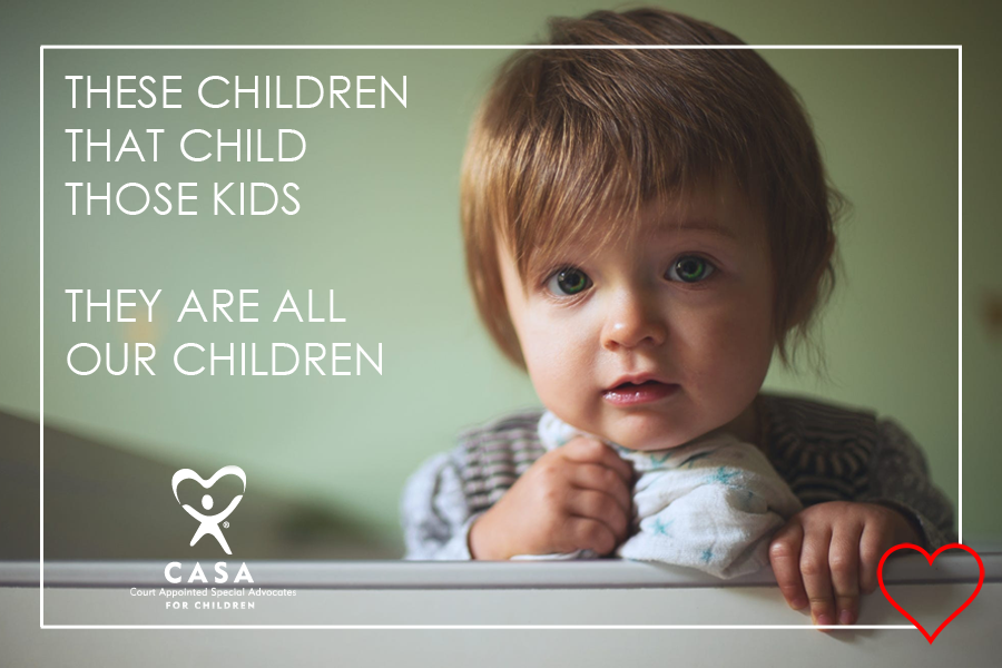 20 of the children waiting for a CASA volunteer are under age 3