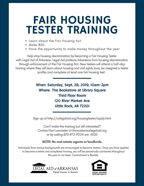 Fair Housing Tester Training - Little Rock