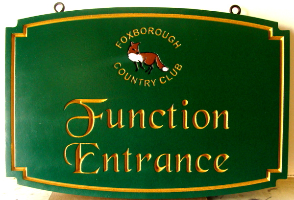 E14209 - Elegant Function Entrance Sign, for Foxborough Country Club