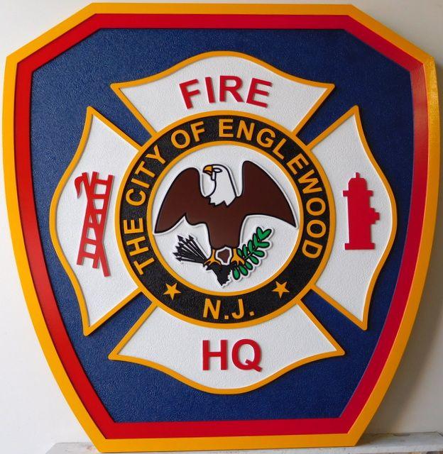 CB5570 - Firefighter Badge, Multi-level Relief