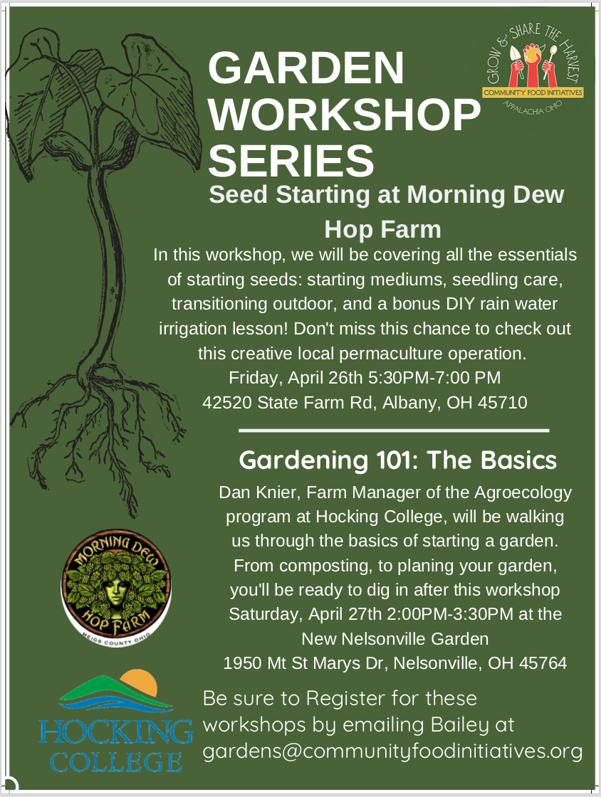Seed Starting at Morning Dew Hop Farm