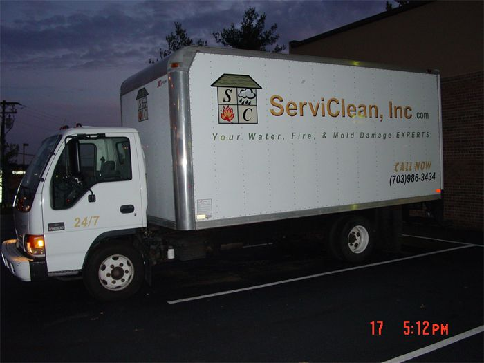 ServiClean Truck Graphics