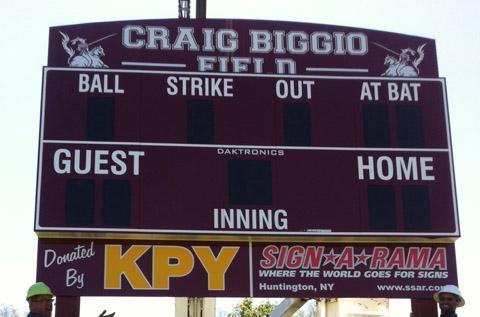 Craig Biggio Field Scoreboard