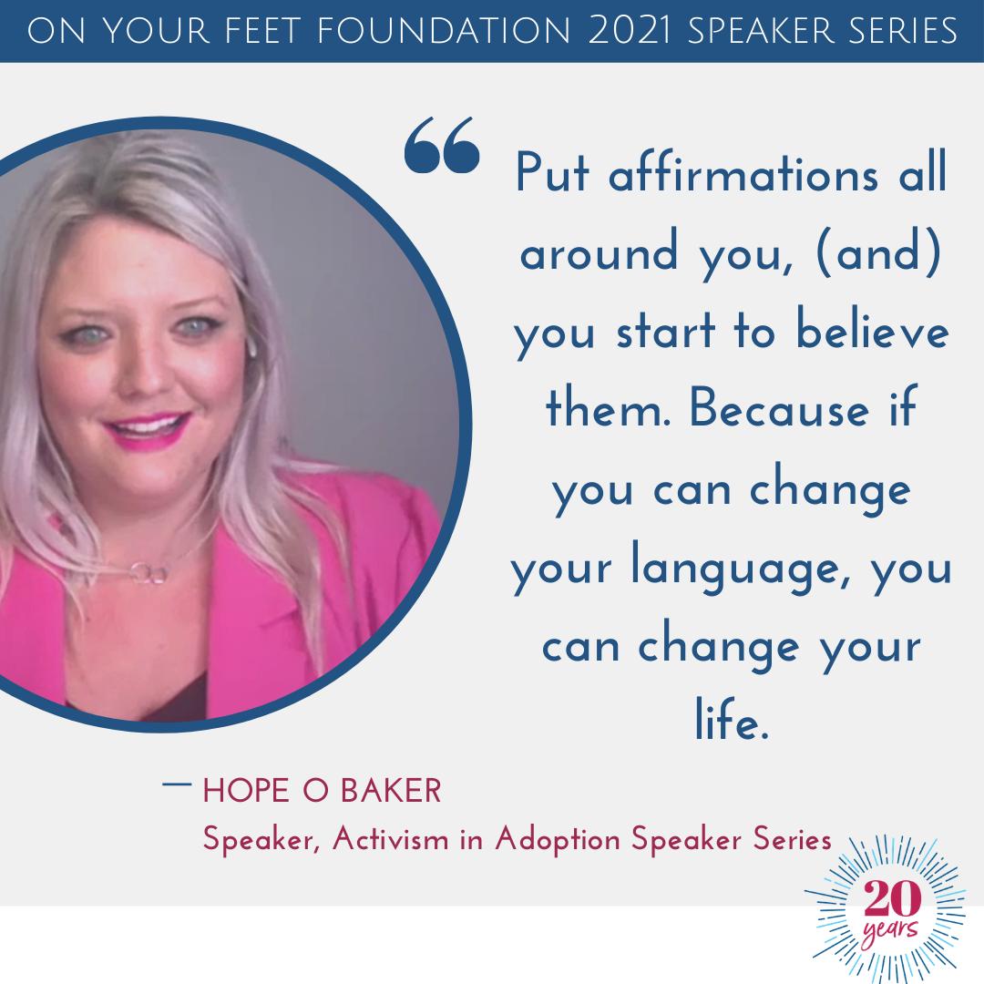 Activism in Adoption Speaker Series Session One: Hope O Baker