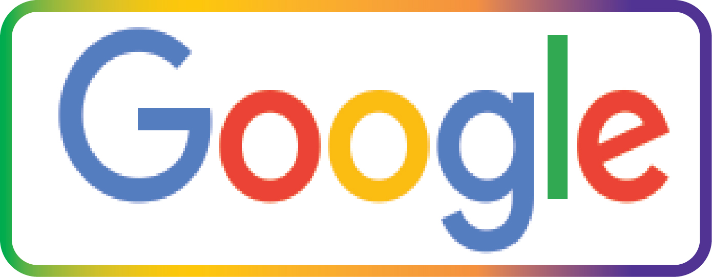 VP-1480 - Carved Wall Plaque of the Logo of Google,  Artist Painted