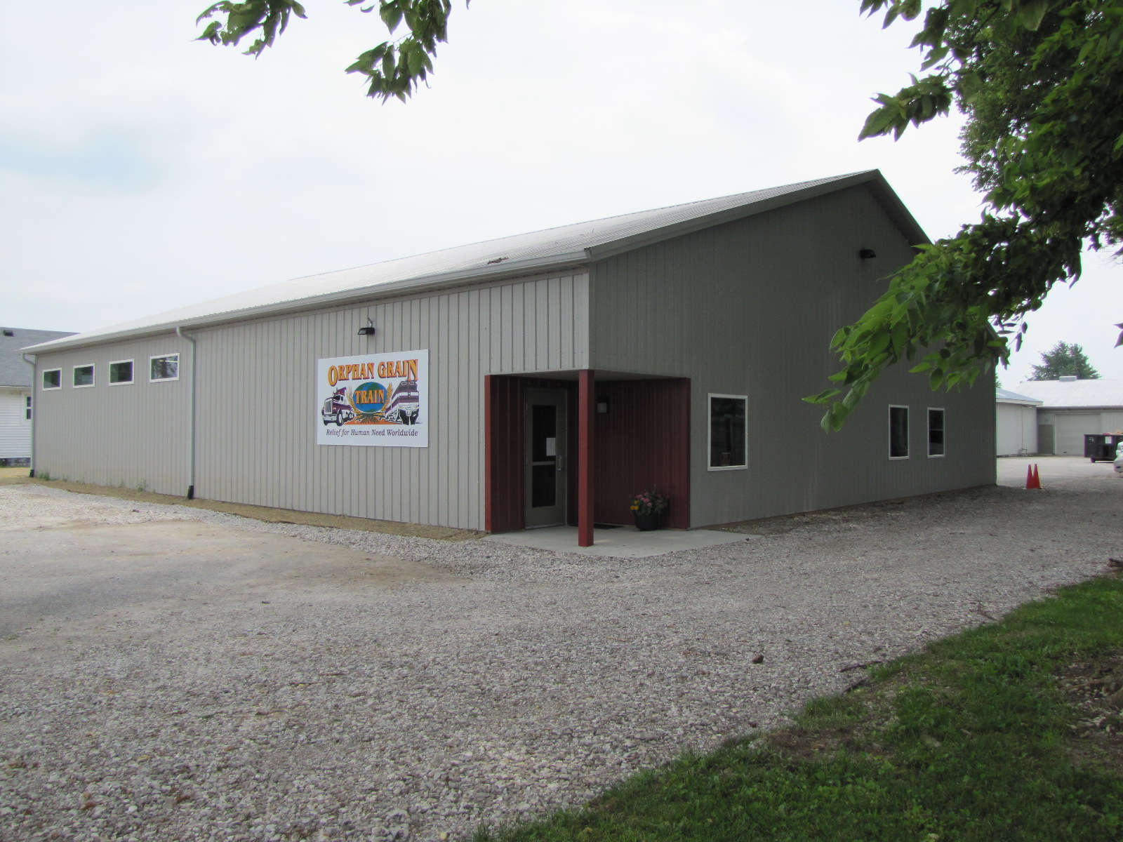 Front view of new warehouse