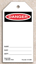 Blank Danger Tag