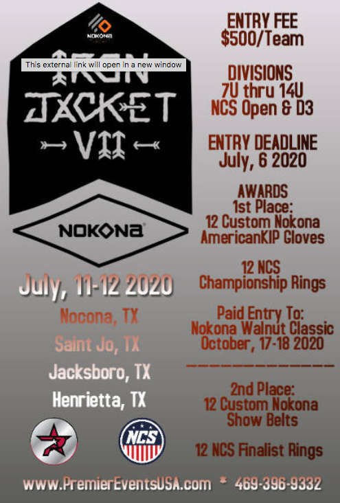 Nokona Iron Jacket Invitational Baseball Tournament