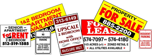 Yard and Real Estate Signs & Banners