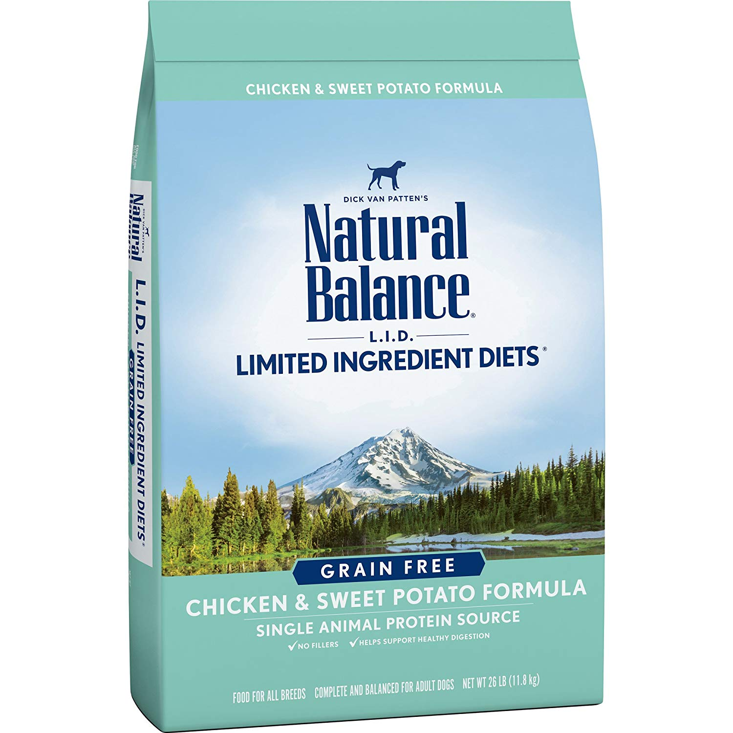 Natural Balance L.I.D. Limited Ingredient Diets Dry Dog Food, Grain Free, Chicken & Sweet Potato Formula