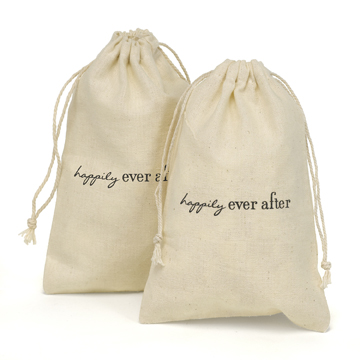 Cotton Favor Bags  - Ever After
