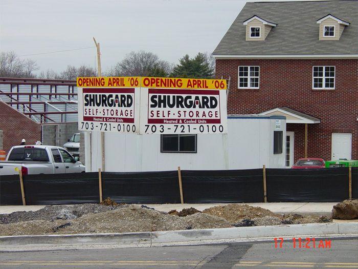 Shurgard Site Sign