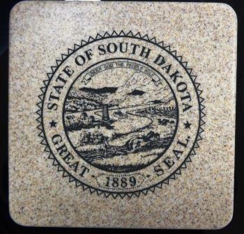 "State Seal - Stone Trivet 6"""